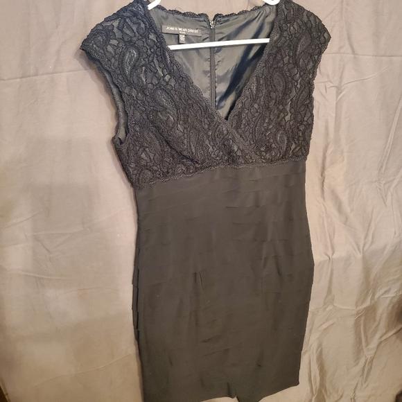 Ruffled and Lace Jones Wear Dress